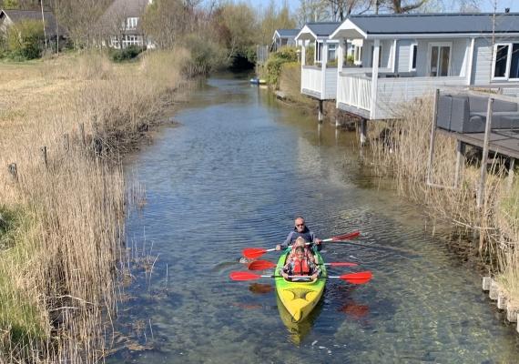 Met de kano het Veerse Meer op
