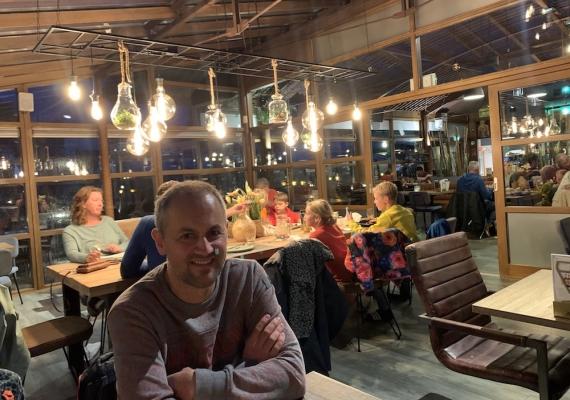 Gezellig sfeertje in Grand Café
